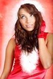 Het meisje van de Kerstman Stock Afbeeldingen
