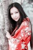 Het meisje van de kimono royalty-vrije stock afbeelding