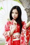 Het meisje van de kimono royalty-vrije stock afbeeldingen