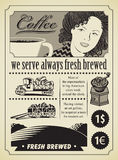 Het meisje van de koffie Stock Fotografie