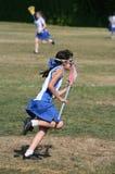 Het Meisje van de lacrosse stock afbeelding