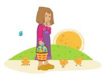Het meisje van de lente Stock Afbeeldingen
