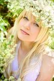 Het meisje van de lente Stock Afbeelding