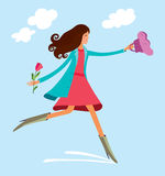 Het Meisje van de lente Stock Illustratie