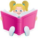 Het Meisje van de lezing royalty-vrije illustratie