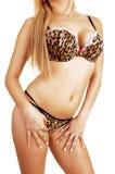 Het meisje van de lingerie status. Royalty-vrije Stock Fotografie