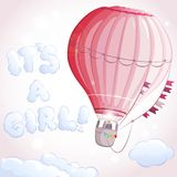 Het meisje van de luchtballon Stock Afbeelding