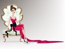 Het meisje van de luxe Stock Foto's