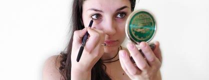 Het meisje van de make-up Stock Afbeelding