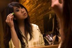 Het meisje van de make-up - ogen Stock Fotografie