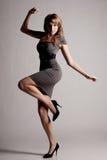 Het meisje van de manier in beweging Royalty-vrije Stock Fotografie