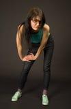 Het meisje van de manier in ontwerperzonnebril Royalty-vrije Stock Foto