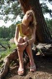 Het meisje van de mijmerij Royalty-vrije Stock Fotografie