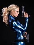 Het meisje van de militair stock afbeelding