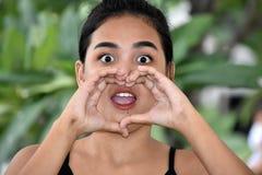 Het Meisje van de minderheidstiener het Schreeuwen royalty-vrije stock foto
