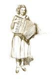 Het meisje van de musicus stock illustratie