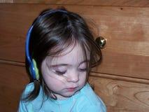 Het Meisje van de muziek royalty-vrije stock afbeelding