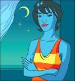 Het meisje van de nacht Royalty-vrije Stock Afbeelding