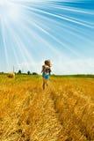 Het meisje van de oogst Stock Foto's