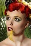 Het meisje van de papegaai Royalty-vrije Stock Afbeelding