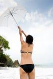 Het meisje van de paraplu Stock Afbeeldingen