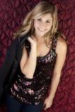Het meisje van de partij stock foto