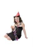 Het Meisje van de Partij van het nieuwjaar Stock Foto's