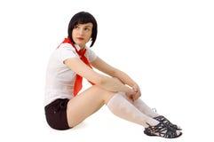 Het meisje van de pionier Stock Fotografie