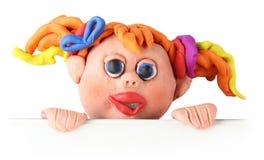Het meisje van de plasticine Stock Afbeelding