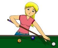 Het meisje van de pool Royalty-vrije Stock Afbeelding