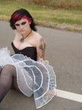 Het Meisje van de punkmuziek Royalty-vrije Stock Foto's