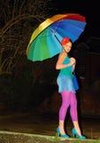 Het meisje van de regenboog Royalty-vrije Stock Afbeeldingen