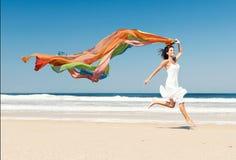 Het meisje van de regenboog Stock Foto