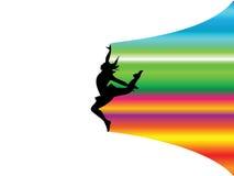 Het meisje van de regenboog Stock Foto's