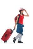Het meisje van de reis Stock Foto's