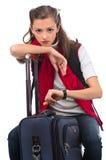 Het meisje van de reis Stock Afbeelding