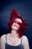 Het meisje van de roodharige Stock Foto