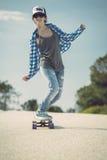 Het meisje van de schaatser royalty-vrije stock fotografie