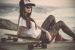 Het meisje van de schaatser royalty-vrije stock foto's