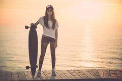 Het meisje van de schaatser Royalty-vrije Stock Foto
