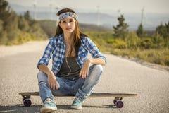 Het meisje van de schaatser stock foto