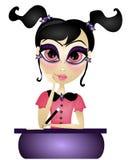 Het meisje van de school vector illustratie
