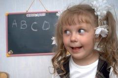 Het meisje van de school Stock Afbeeldingen