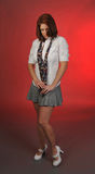 Het meisje van de school Stock Afbeelding