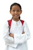Het Meisje van de school brengt Zak Stock Foto