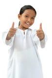Het Meisje van de school toont goed teken Royalty-vrije Stock Afbeelding