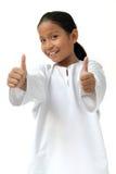 Het Meisje van de school toont goed teken Stock Foto
