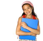 Het meisje van de school van het mengelingsbehoren tot een bepaald ras Stock Foto's