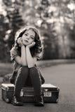 Het meisje van de schoonheid Stock Foto's