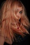 Het meisje van de schoonheid in nachtclub Royalty-vrije Stock Foto